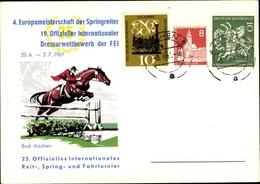Cp Aachen In Nordrhein Westfalen, 4. Europameisterschaft Der Springreiter 1961 - Cartes Postales