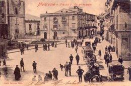 Palermo   Monreale  Piazza E Via Principale Viaggiata Nel 1905 - Palermo