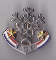 PIN'S BROCHE THEME SKI  ECOLE SKI FRANCAIS  2 ETOILES - Wintersport