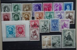BELGIE  1941    Nr. 573 - 582 / 581 A - 582 A / 583 - 92 / 602      Gestempeld   CW  23,75 - Belgique