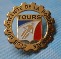 Rare Pin's Club Motocycliste De La Police Nationale Tours - Police