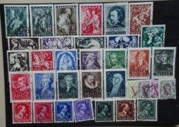 BELGIE  1944    Nr. 647 - 652 / 653 - 660 / 661 - 669 / 670 - 673 / 690 - 696    Gestempeld   CW  10,40 - Belgique