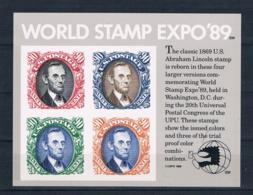 USA 1989 Briefmarken Block 21 ** - United States