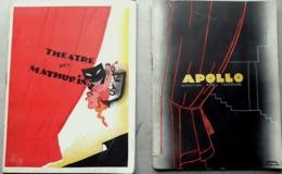 PAUL COLIN AFFICHISTE 2 COUVERTURES PROGRAMMES ILLUSTRES  DE COMPOSITIONS INEDITES DE COLIN APOLLO 1934 - Programma's