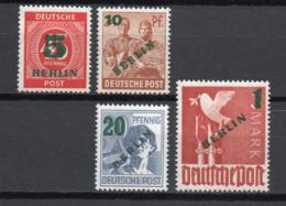 - ALLEMAGNE BERLIN Yvert & Tellier N° 47/50 Neufs * MH - Série Des Zones AAS SURCHARGE VERTE 1949 - Cote 85 EUR - - [5] Berlino