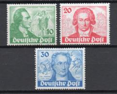 - ALLEMAGNE BERLIN Yvert & Tellier N° 51/53 Neufs * MH - Série GOETHE 1949 - Cote 130 EUR - - [5] Berlino