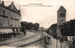 9516-2019     GOURDON    TOUR DE VILLE ET L EGLISE DES TEMPLIERS - Gourdon