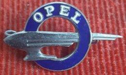 Car / Auto - Vintage Enamel OPEL Brooch Pin Badge Zeppelin Germany Brosche Anstecknadel - Opel