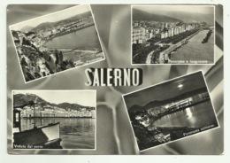 SALERNO 4 VEDUTE VIAGGIATA FG - Salerno