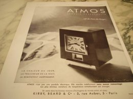 ANCIENNE PUBLICITE PENDULE ATMOS PERPETUELLE - Bijoux & Horlogerie