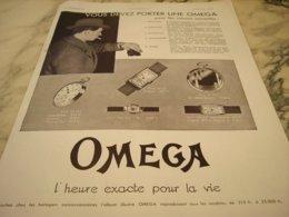 ANCIENNE PUBLICITE VOUS DEVEZ PORTER  MONTRE OMEGA  1931 - Bijoux & Horlogerie