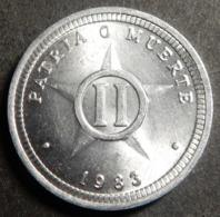 Cuba 2 Centavos 1983 KM#104.1 One-year-type Top Grade! Very Rare! - Cuba