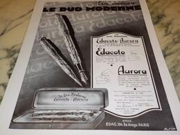 ANCIENNE PUBLICITE DUO MODERNE STYLO  EDACOTO 1931 - Zonder Classificatie