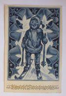 """""""Neujahr, Kinder, Ski, Glocken"""" 1940, G. Krause ♥   - Neujahr"""