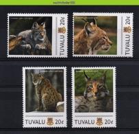 Nff150 FAUNA WILDE KAT ROOFKAT ZOOGDIEREN LYNX WILD CAT MAMMALS KATZEN FELINS TUVALU 2011 PF/MNH - Big Cats (cats Of Prey)