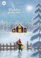 Postal Stationery - Bird - Bullfinch - Elf Bringing Gifts - Cancer Foundation 2019 - Suomi Finland - Postage Paid - Finland