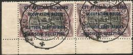 BELGIAN CONGO RUANDA URUNDI 1916 ISSUE USED BPCVPK N°8 = Scarce RR The No 8 = Here Two Strikes On Beautiful Pair !! - Belgian Congo