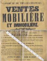 Affiche Vente Thy Le Chateau 1863 - Affiches