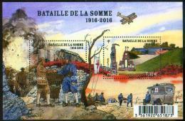 France 2016 - Bataille De La Somme, 1916, 1ere Guerre Mondiale / Battle Of The Somme, World War I - MNH - Prima Guerra Mondiale
