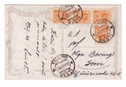 Estonia,4x1/2M On Postcard - Estonie