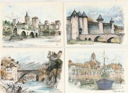 19 : 11 / 29. -   C P M.  AQUARELLES   ORIGINALES  DIVERSES  SIGNÉES  ROBERT  LEPINE - Toutes Scanées - Postcards