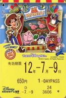 "Japan - Japanese Card DISNEY RESORT LINE.  Carte DISNEY RESORT LINE Du Japon.   ""Toy Story Mania 2012"". - Disney"