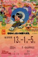 "Japan - Japanese Card DISNEY RESORT LINE.  Carte DISNEY RESORT LINE Du Japon.   ""Mickey & Ses Amis 2013"". - Disney"
