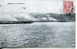 N°78135 -cpa Messina In Fiamme - Messina