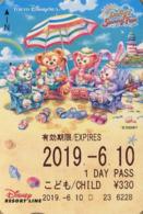 "Japan - Japanese Card DISNEY RESORT LINE.  Carte DISNEY RESORT LINE Du Japon.   ""Duffy's Sunny Fun 2019"". - Disney"