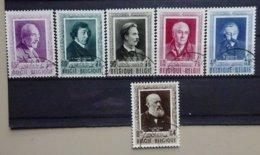 BELGIE  1952    Nr. 892 - 897    Gestempeld   CW 53,00 - Belgique