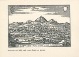 Ganzsache - Eisenach Um 1650 - Wartburg  - Stich Von Merian - Schlösser U. Burgen