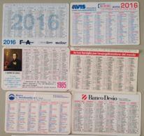 LOTTO 6 CALENDARIETTI  (BK475 - Calendari