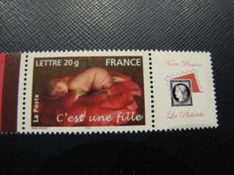 TIMBRES PERSONNALISES 3804A  C'EST UNE FILLE  LOGO NOTRE PASSION - Personalized Stamps