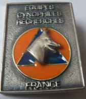 INSIGNE EQUIPES CYNOPHILES RECHERCHES PROTECTION CIVILE - Pompieri