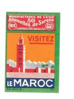 KB633 - ETIQUETTES BOITE D'ALLUMETTES DE SURETE - MAROC - Boites D'allumettes - Etiquettes