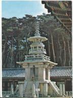 Korea South Postcard Sent To Denmark 1978 (Dabo Pagoda Gyeonju) Bended Card Good Franked - Korea, South
