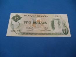 Billet Guyana , 5 Dollars 1992 - Guyana