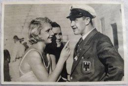 Foto Cromo Olimpiada De Los Ángeles. 1932. Nº 96. Dorothy Poynton, USA, Acki Rademacher, Alemania. Hecho En 1936 Berlín - Tarjetas