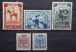 BELGIE  1954    Nr. 938 - 940 /  941 - 942      Gestempeld   CW  34,00 - Belgique