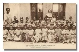 SENEGAL  LES SOEURS BLEUES DE CASTRES à Dakar Eleves Appliquées 25 (scan Recto Verso) KEVREN0610 - Senegal
