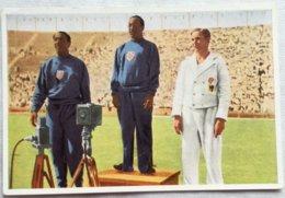 Foto Cromo Olimpiada De Los Ángeles. 1932. Nº 17. Atletismo 100 Metros. Arthur Jonath, Alemania, Eddie Tolan, Ralph Metc - Tarjetas