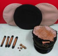 Casquette, Boutons, Dessus De Casquette? équipement, Barette, Marine, Lot - Headpieces, Headdresses