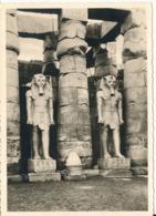 Egypt Postcard Luxor Statues Of Ramses II Sent To Germany 1964 - Louxor