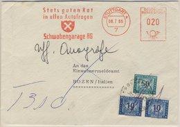 BRD - 20 Pfg. AFS Schwabengarage Brief N. ITALIEN Stuttgart 4 - Bozen 1965 - [7] République Fédérale