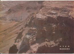 Israel Postcard Massada General View Sent To USA 6-8-1968 - Israel