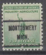 USA Precancel Vorausentwertung Preo, Locals Michigan, Montgomery 719 - Vereinigte Staaten