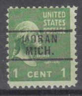 USA Precancel Vorausentwertung Preo, Locals Michigan, Moran 729 - Vereinigte Staaten