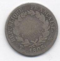 1 FRANC 1808  W  LILLLE   NAPOLEON TETE LAUREE - H. 1 Franc