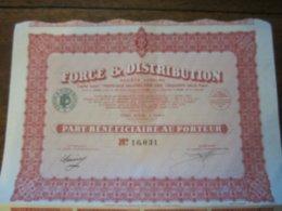 FORCE ET DISTRIBUTION PART BENEFICIAIRE AU PORTEUR - Actions & Titres