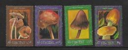 St. Vincent   1992   Mi 2048-2050 Und 2054  Pilze  Postfrisch - Pilze